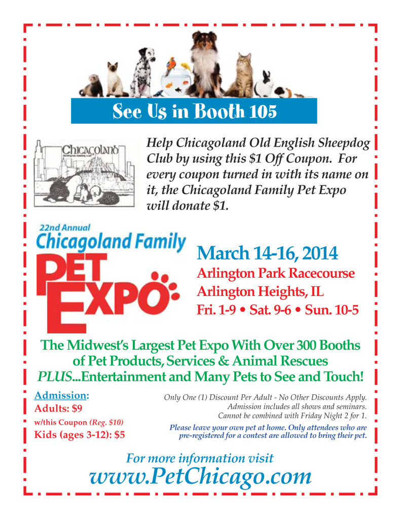 Chicagoland Family Pet Expo Coupon